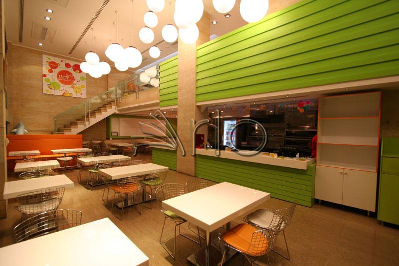 طراحی-دکوراسیون-فست فود-میز صندلی-دارتلا2