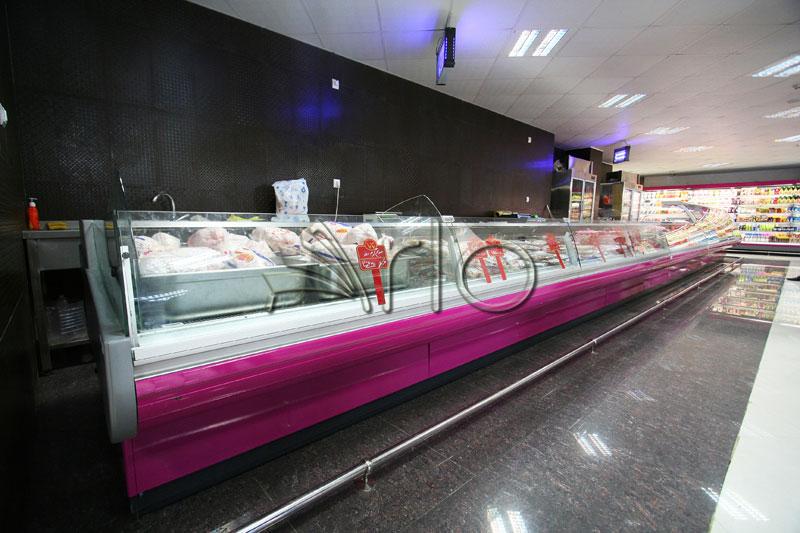 قفسه بندی-فروشگاه-هایپرمارکت-شیشه خم-داماهی3