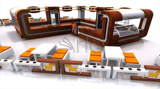 طراحی-دکوراسیون-کافی شاپ-بستنی فروشی