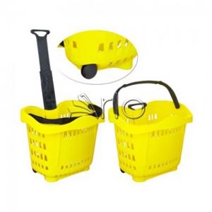 سبد-خرید-پلاستیکی-چرخدار-فروشگاهی
