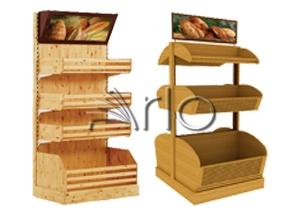 استند-قفسه-نان-فروشگاهی-هایپرمارکتی