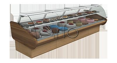 یخچال-شیشه خم-ویترینی-کنراد-شیرینی