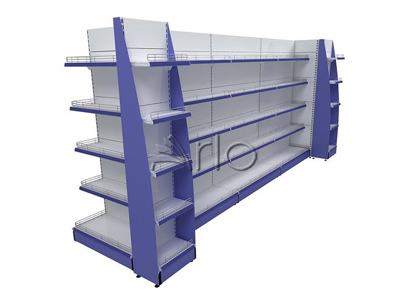قفسه-بندی-سر قفسه-سوپر مارکت-دوطرفه-فروشگاهی